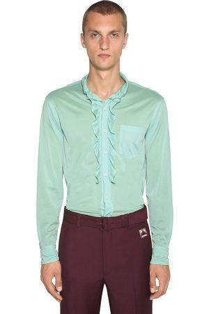 Prada   Hombre Camisa De Jersey Con Volantes 38