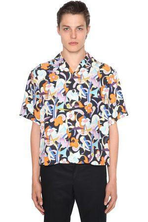 Prada | Hombre Camisa Con Estampado /púrpura Xs