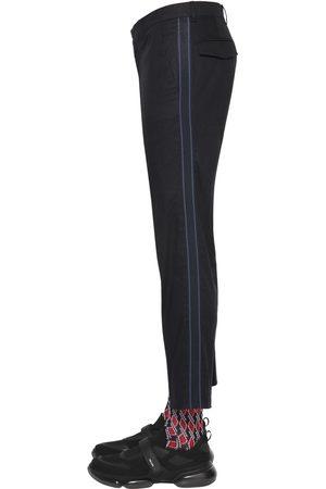 Prada | Hombre Pantalones De Sarga De Algodón Stretch 18cm 46