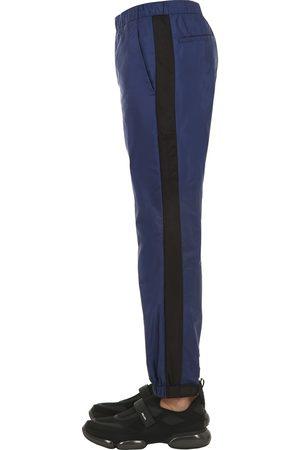 Prada | Hombre Pantalones De Nylon Con Correa Con Logo 18cm /negro Xs