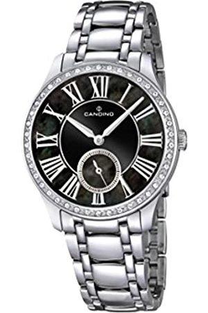 Candino Reloj Mujer de Cuarzo con Esfera analógica Pantalla y Plata Pulsera de Acero Inoxidable C4595/3