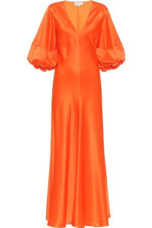 Lee Mathews Exclusivo en Mytheresa – vestido midi de satén de seda