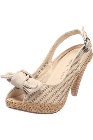 Couleur Pourpre E12-243_Blanc (Nappa écru) - Zapatos de Vestir de Cuero para Mujer