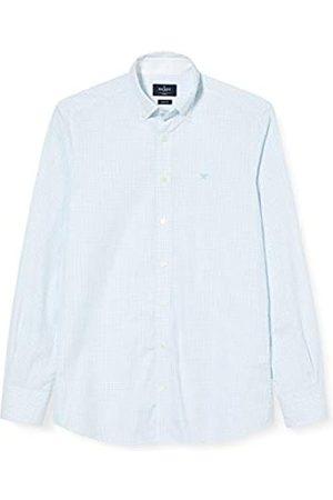 Hackett White Based Chk Camisa