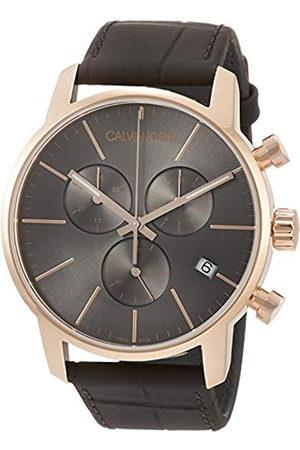 Calvin Klein Reloj Cronógrafo de Cuarzo para Hombre con Correa de Cuero – K2G276G3