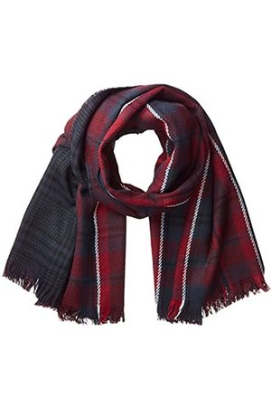 Only Onlofaith Doublesided Check Scarf Noos Bufanda, (Port Royale Checks:Black/Rumba Red/Night Sky)