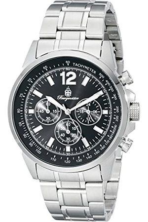 Burgmeister Reloj cronógrafo de Cuarzo para Hombre con Correa de Acero Inoxidable
