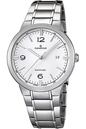Candino – Reloj con Mecanismo de Cuarzo para Hombre Color Esfera analógica Pantalla y Plata Pulsera de Acero Inoxidable C4510/1