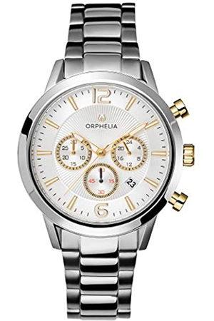 ORPHELIA Reloj Cronógrafo para Hombre de Cuarzo con Correa en Acero Inoxidable OR82808