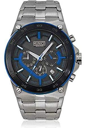 Munich Reloj Analógico para Unisex Adultos de Cuarzo con Correa en Acero Inoxidable MU+138.1C