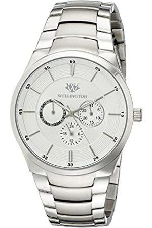 Daniel Wellington – Reloj de Hombre de Cuarzo con Esfera Plateada Pantalla Analógica y Plata Pulsera de Acero Inoxidable WN601 – 111