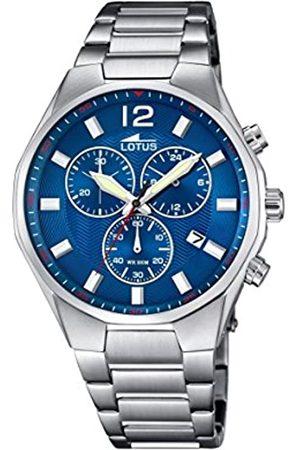 Lotus 10125/3 - Reloj para Hombre, Cuarzo, cronógrafo, cronógrafo, Correa de Acero Inoxidable
