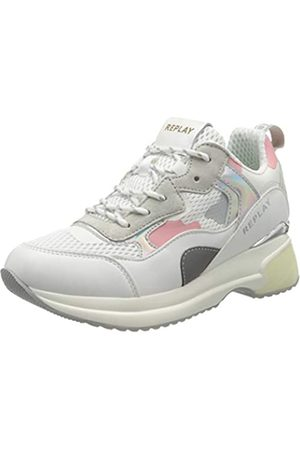 Replay Comet-Script, Zapatillas para Mujer, (White Pink 77)