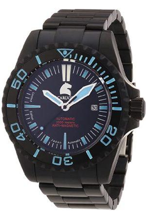 Carucci Watches CA4401BK-BL - Reloj analógico automático para Hombre, Correa de Acero Inoxidable Color (Agujas luminiscentes
