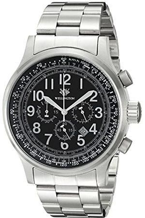 Daniel Wellington Hombre Reloj de Cuarzo con cronógrafo y Pulsera de Acero Inoxidable WN302 – 121