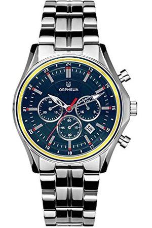 ORPHELIA Reloj Cronógrafo para Hombre de Cuarzo con Correa en Acero Inoxidable OR82811