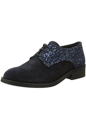 Jonak Yep by Georgine - Zapatos de Cordones de Otra Piel Niñas, ( (Bleu))