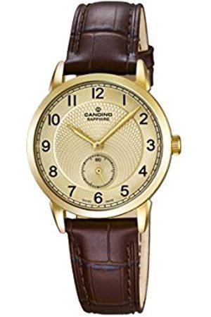 Candino Reloj de Cuarzo para Mujer con Oro Esfera analógica Pantalla y Correa de Piel Color C4594/3