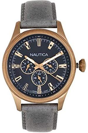 Nautica RelojAnalogicoparaHombredeCuarzoconCorreaenCueroNAPSTB003