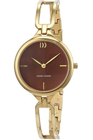 Danish Design Reloj Cuarzo para Mujer con Analogico Y Oro Chapado en Acero Inoxidable 3320217