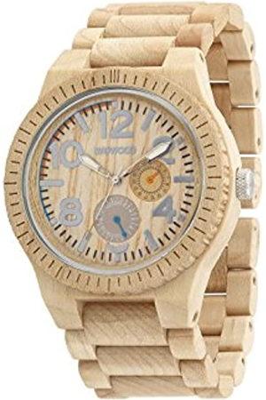 WeWood Reloj Analógico para Hombre de Cuarzo con Correa en Madera WW26001