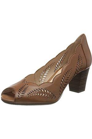 Gerry Weber Lotta 22, Zapatos de tacón con Punta Abierta para Mujer, (Cognac 370)