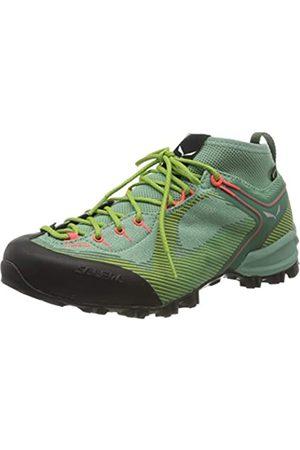 Salewa WS Alpenviolet GTX, Zapatos de Low Rise Senderismo para Mujer, (Feld Green/Fluo Coral 5585)