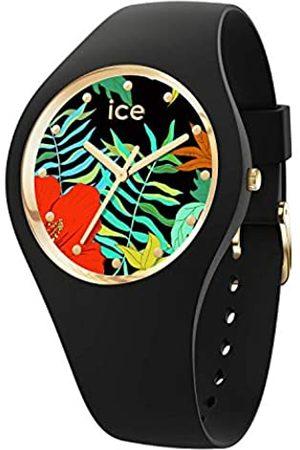 Ice-Watch ICE flower Jungle - Reloj nero para Mujer con Correa de silicona - 016656 (Small)