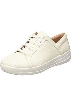 FitFlop F-Sporty II Lace Up, Chanclas para Mujer, (White Shimmer/Denim 541)