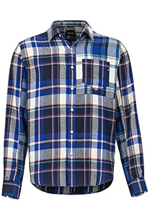 Marmot Asheville Midwt Flannel LS Exteriores De Manga Larga, Camisa De Senderismo, con Protección UV, Transpirable, Hombre