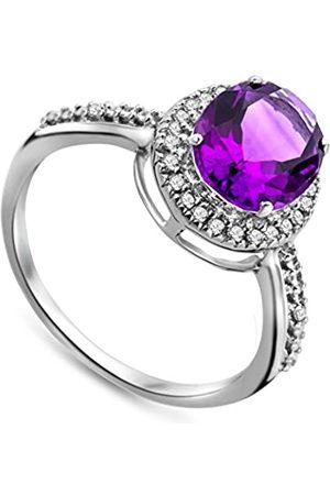 MIORE JM038R5WM-Anillodemujerdeoroblanco(9k)con28diamantes(talla:12)