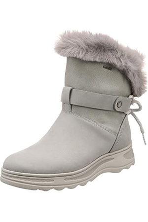 Geox D HOSMOS B ABX C, Botas de Nieve para Mujer, (Lt Grey/Silver C1355)