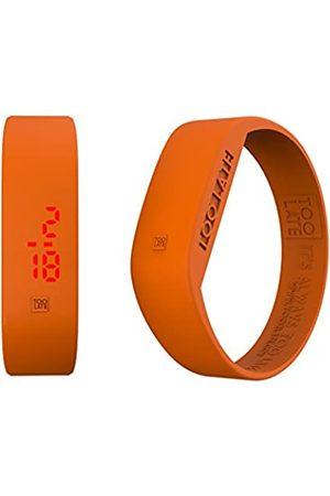 Too Late Led Original Reloj Digital Ultraligero de Silicona Unisex - Fecha y Hora - 19 Colores (Orange