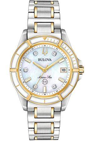 BULOVA Reloj Analógico para Mujer de Cuarzo con Correa en Acero Inoxidable 98P186
