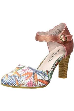 LAURA VITA Alcbaneo 54, Zapatos con Tacon y Correa de Tobillo para Mujer, (Corail Corail)