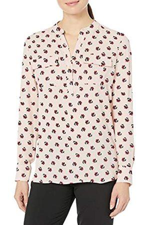 Lark & Ro Women's Band Collar Pocket Tunic Popover Dresses
