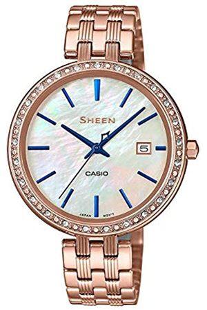 Casio Reloj Analógico para Mujer de Cuarzo con Correa en Acero Inoxidable SHE-4052PG-2AUEF