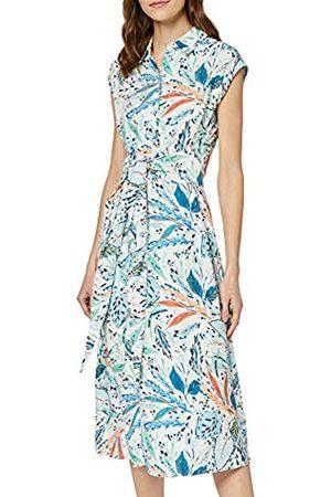 FIND Marca Amazon - Vestido Midi Camisero de Flores Mujer, 46