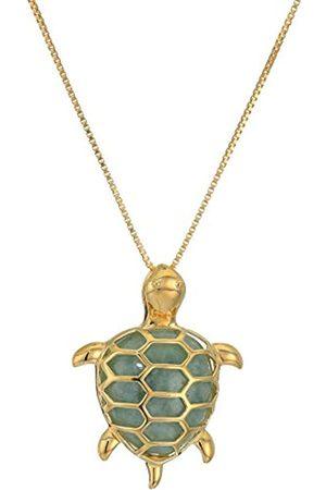 Amazon Collection Plata de ley 925 plata chapada en oro special-cut-shape jade