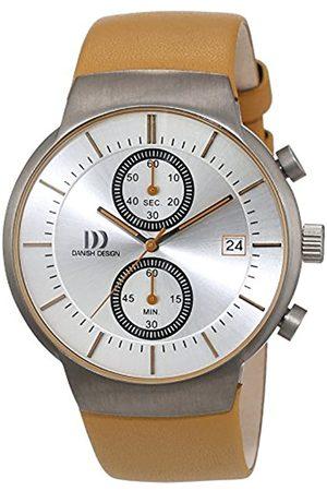 Danish Design Herren-reloj analógico de pulsera de cuarzo cuero 3316342