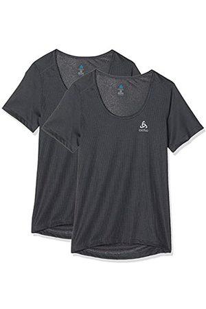Odlo BL Top Crew Neck s/s Active Cubic Light Camiseta, Mujer