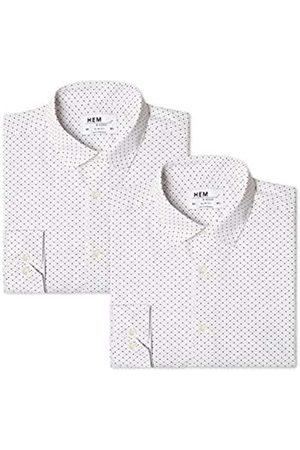 FIND 2 Pack Slim Shirt - Camisa Hombre, 43 cm