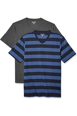 Amazon Pack de 2 Camisetas Ajustadas con Cuello en V Fashion-t-Shirts