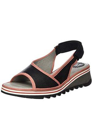 Fly London Tuni160fly, Sandalias de Talón Abierto para Mujer, (Black (Pink) 000)