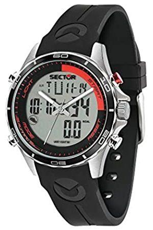 Sector No Limits Reloj Analógico-Digital para Hombre de Cuarzo con Correa en Silicona R3271615002