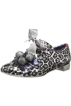 Irregular Choice Femme, Zapatos de Cordones Derby para Mujer, (Silver Grey)