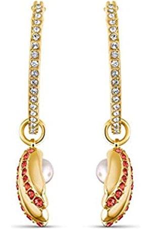 Swarovski Pendientes de aro de Mujer Shell Pearl, Rojo