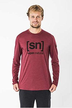 super natural Super.natural M Essential I.d. - Zapatillas para Hombre Camiseta de Manga Larga de LS, Hombre, SNM012270I35S