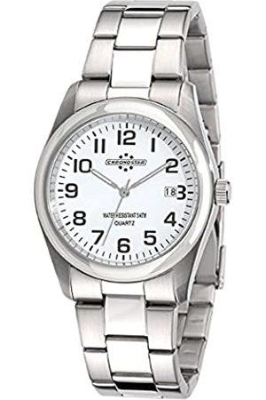 Chronostar Watches - Reloj analógico de Cuarzo para Hombre con Correa de Acero Inoxidable