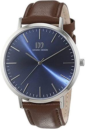 Danish Design Hombre-Reloj analógico de Cuarzo de Cuero 3314509
